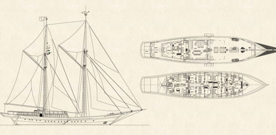 Deck-plan and special features of Lamima