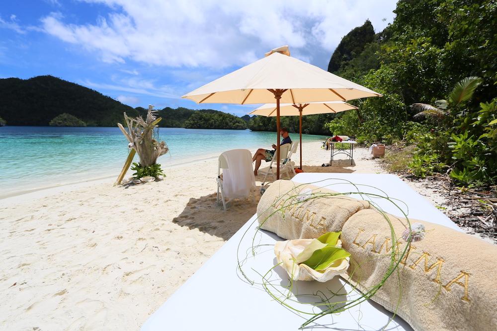 beautiful beach raja ampat indonesia