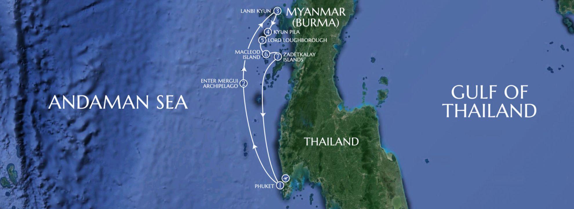 Mergui Archipelago - LAMIMA Luxury Sailing Yacht