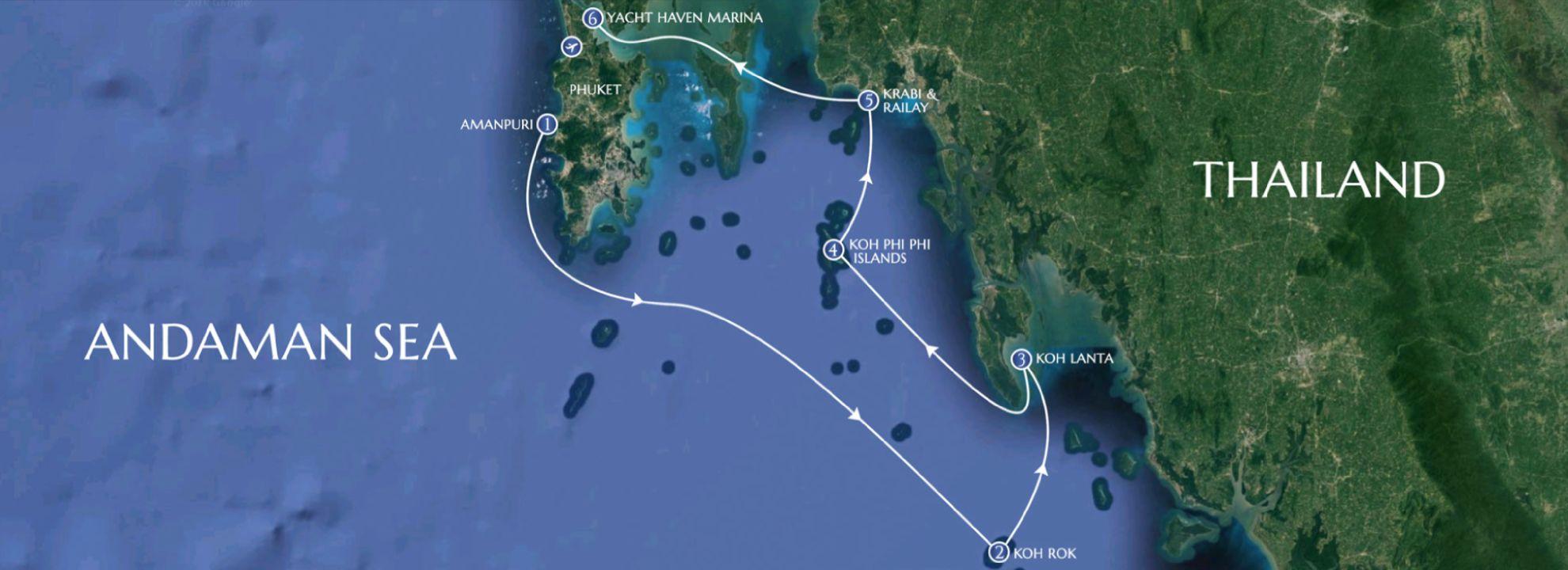Phuket to Krabi - LAMIMA Luxury Sailing Yacht