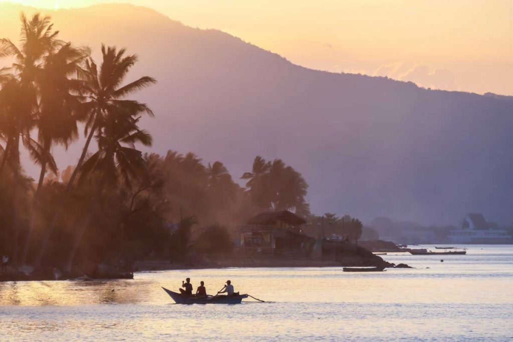A sunset in Maumere, Flores, Indonesia